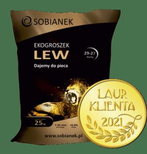 Ekogroszek Lew z nagrodą Laur Klienta 2021