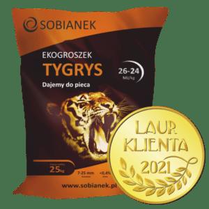 Ekogroszek tygrys z nagrodą Złoty Laur Klienta 2021