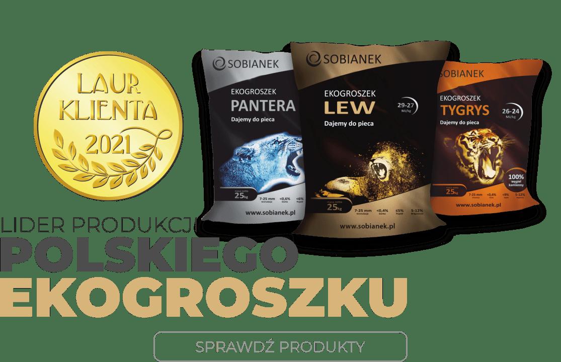 najlepszy ekogroszek, ekogroszek sobianek, dawniej ekogroszek silver, ekogroszek gold, ekogroszek bronze