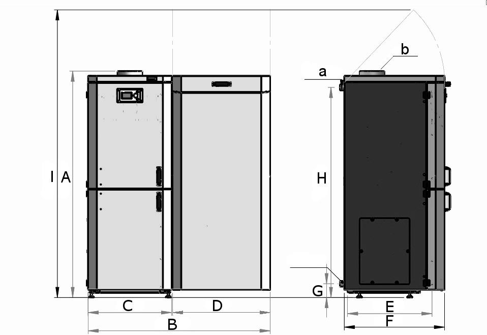 Schemat wymiary kocioł 5 klasy DuoKo