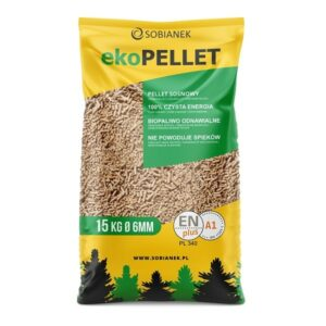 Pellet certyfikowany EN Plus A1 opakowanie 15kg