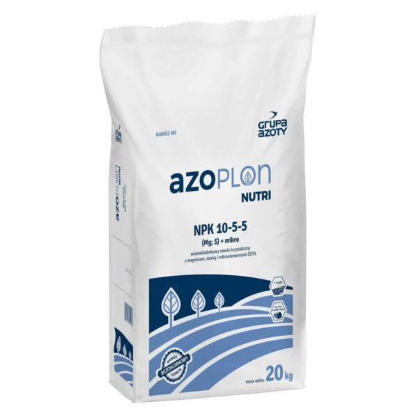 Azoplon Nutri NPK 10-5-5 nawóz krystaliczny w opakowaniu 4 i 20 kg