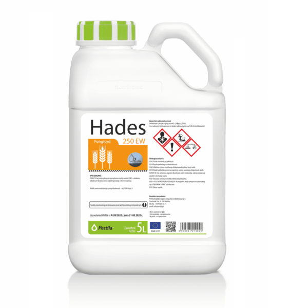 Hades 250 EW fungicyd w formie koncentratu o pojelności 1 i 5 litrów producent Pestila
